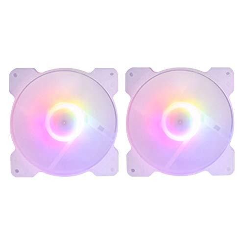 Nrpfell Ventilador de RefrigeracióN de la Caja de PC de 120 Mm para Juegos 1150 AMD1366, Enfriador RGB de Computadora Ultra Silencioso de 120 Mm, Alto Flujo de Aire de Escritorio-2 Piezas