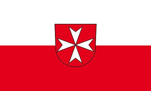 Unbekannt magFlags Tisch-Fahne/Tisch-Flagge: Heitersheim 15x25cm inkl. Tisch-Ständer