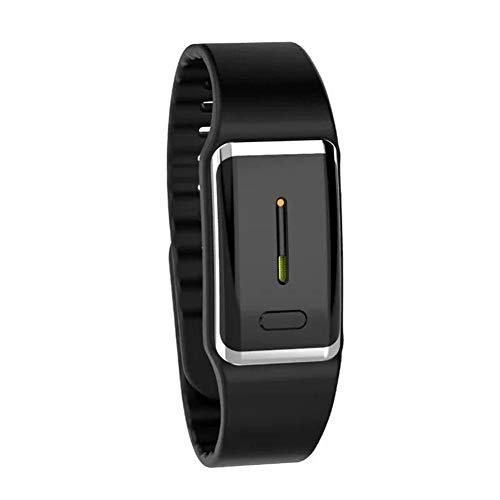 Pulsera Repelente De Mosquitos De Ultrasonido ElectróNica Bionic Wave Charging Anti Mosquito Pest Control Wristband para Kid Adult USB,Black
