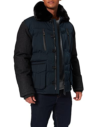 Lights of London Piccadilly Circus Blouson, Bleu (Dark Navy), XX-Large Homme