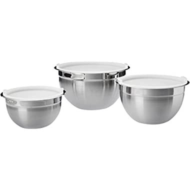 AmazonBasics Stainless Steel 3-Piece Mixing Bowl Set