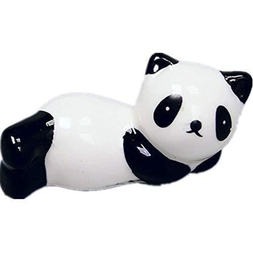 JLCK Soportes de cerámica para Palillos, 8 Piezas Soporte para Palillos Panda japonés Palillos Cuchara Soporte Tenedor Vajilla Accesorio de Cocina-8 Piezas
