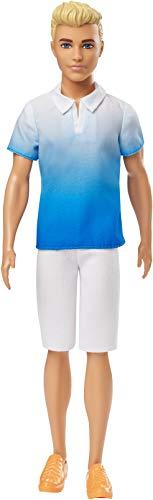 Barbie Ken, Bambola con Maglietta e Pantaloncini Bianchi, per Bambini 3+ Anni, GDV12