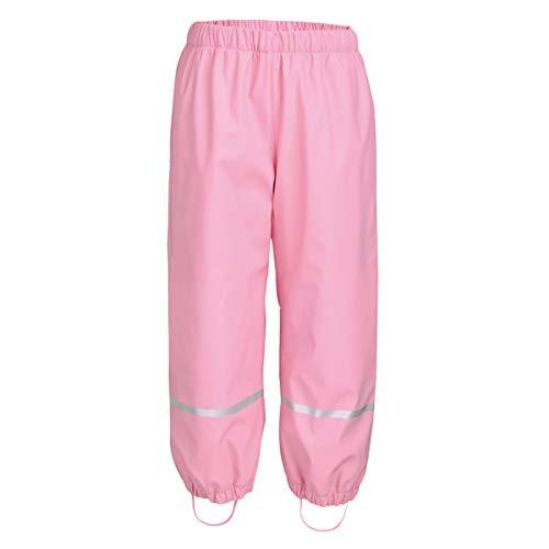 HAOKTY Unisex-Kinder Jungen Mädchen Warme Regenhose Buddelhose Matschhose mit Fleecefutter (Pink, 98/104)