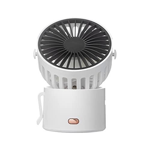 HAIMING Mini Ventilador de Cuello portátil Ventilador inalámbrico USB Recargable Recargable Ventilador 1000mAh Batería refrigerador de Aire Desktop Fan de Mano al Aire Libre (Color : White)