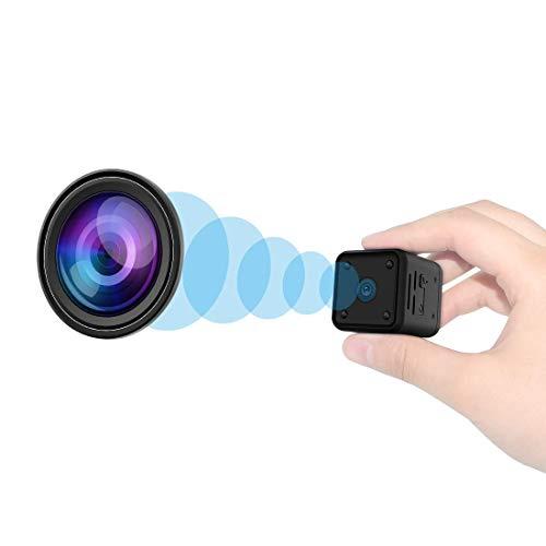 Mini Cámaras espía Oculta, Cámaras Espía 1080P HD con Visión Nocturna Detector de Movimiento, microcámara de Seguridad portátil con Tarjeta SD de 32G Interior/Exterior