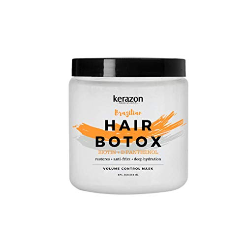 Kerazon Hair Botox Treatment provides smoothing, deep hydration, nutrition, shine, softness, volume control and hair smoothness with 0% of Formaldehyde! For all types of hair