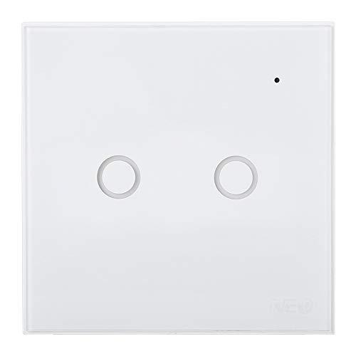 minifinker Enchufe Europeo de Lujo Smart Switch para Google Home(2 Way, Transl)