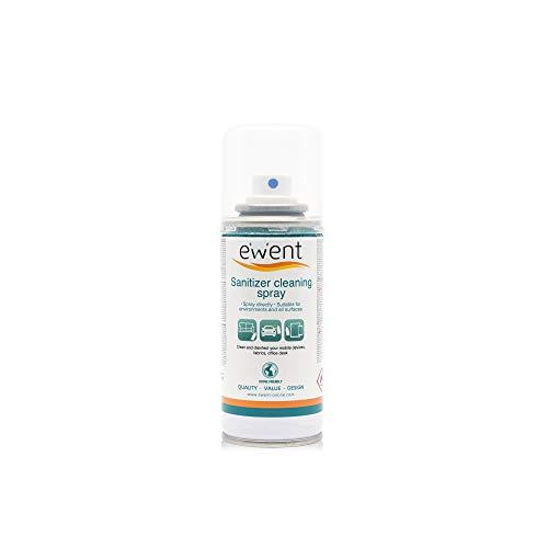 Ewent EW5675 - Spray Igienizzante detergente per superfici - Igienizza superficie smartphone, Tablet, mascherine chirurgiche, tessuti, scrivania ufficio, sedie, tavoli, utensili da lavoro, parti inte