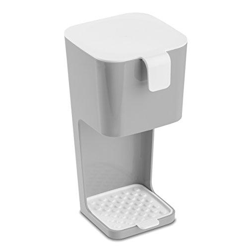 koziol Kaffeebereiter Unplugged, Kunststoff, cool grey mit weiß, 14,2 x 12,7 x 25,2 cm