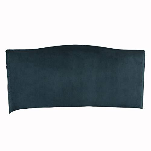 KYJSW Funda protectora para cabecero de cama, de terciopelo a prueba de polvo, extraíble, lavable, color sólido, para cama individual, doble, king (verde, 220 cm)