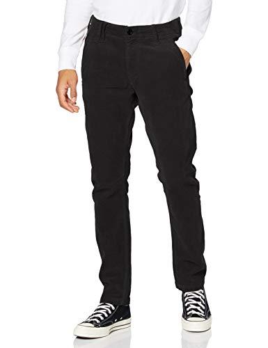 G-STAR RAW Vetar Slim Pantalones Informales, Dk Black GD C434-b564-Carrete de Pesca,...