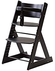 笑顔のプレミアムベビーチェア6か月頃~大人まで 安心強度の三角形ベース マジカルチェア 赤ちゃん用木製椅子 安全ベルト付きダイニングチェアー