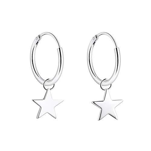 YL Creolen Sterne, 925 Sterling Silber Dangle 15mm Creolen für Frauen und Mädchen