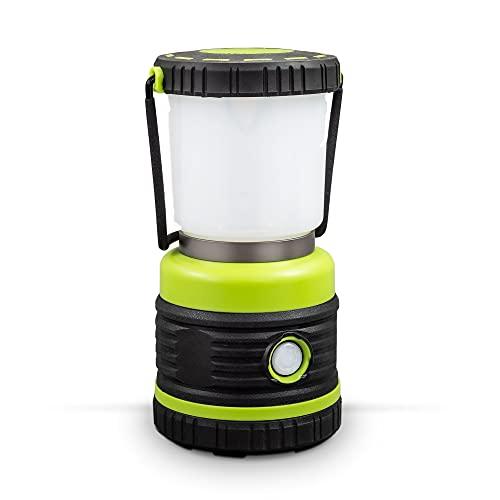 B.K.Licht I LED Campinglampe I extrem hell I bis 1000 Lumen I 3 Helligkeitsstufen I 4 Leuchtmodi I dynamisch dimmbar I Batteriebetrieben I Tragegriff I Campingzubehör I Camping Laterne