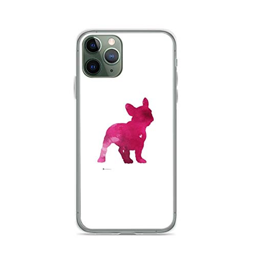 Phone Case French Bulldog Watercolor Painting Art Print Pink Abstract Dog Compatible with iPhone XR Absorption Funny Waterproof