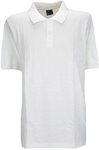 Perfect Collection Bouton Cou à Manches Courtes Polo Top Shirt Blanc 2XL