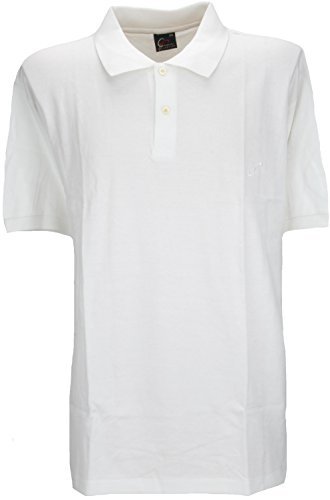 Perfect Collection Bouton Cou à Manches Courtes Polo Top Shirt Blanc 2XL