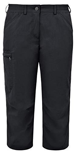 VAUDE Damen Hose Farley Capri Pants IV, Black, 48, 03874