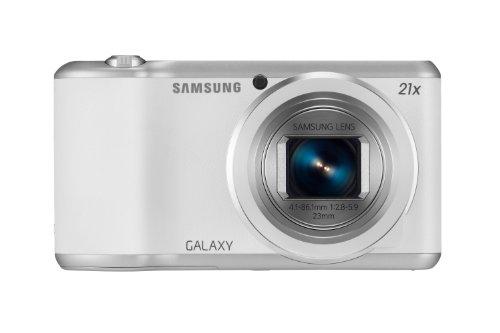 "Samsung Galaxy GC200 - Cámara Digital de 16.3 MP (Pantalla táctil de 4"", Zoom óptico 21x, estabilizador, GPS), Blanco (Importado)"