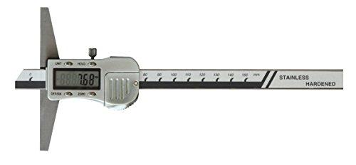 CNC QUALITÄT Digital Tiefen-Messschieber - Messbereich 150 mm - DIGITALANZEIGE - Metallgehäuse - DIN862