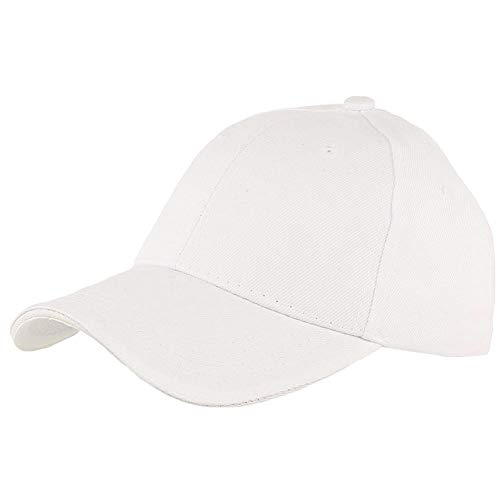Nyls Création Casquette Baseball Blanche - Mixte