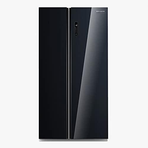 Frigorífico americano 179x90 cm 2 puertas F/A+ Cristal Negro