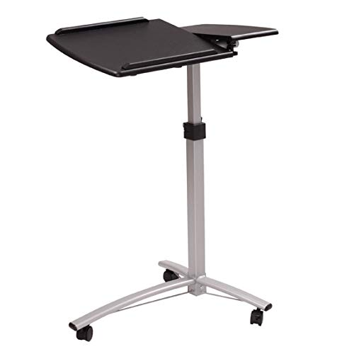 Wooden Lifting Computer Desk Home-Use Durable Modern Desk with Steel Legs, Black