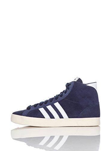 Adidas Basket Profi Sportive Alte Blu/Bianco, Taglia 42