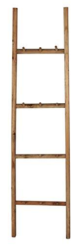 IB Laursen Leiter mit 12 Haken Holz Handtuchhalter 150 cm Hakenleiste Holzleiter