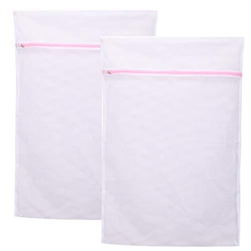 Meowoo Wäschesack Groß Waschbeutel für Waschmaschine Wäschenetz für BH,Dessous, Socken, Strumpfhosen, Strümpfe und Baby Kleidung (Größe: 60x90cm für 5 kg)-2PCS