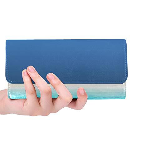 Einzigartige benutzerdefinierte Stühle Sonnenschirm Palm Beach Tropical Holiday Frauen Trifold Wallet Lange Geldbörse Kreditkarteninhaber Fall Handtasche