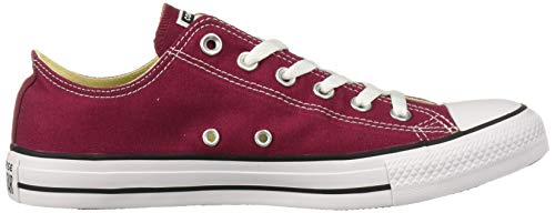 Converse Chuck Taylor All Star Canvas Low Top Sneaker, MAROON ,8 US Men/10 US Women