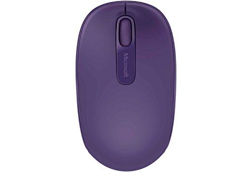 Microsoft Wireless Mobile Mouse 1850 (Maus, lila, kabellos, für Rechts- und Linkshänder geeignet)
