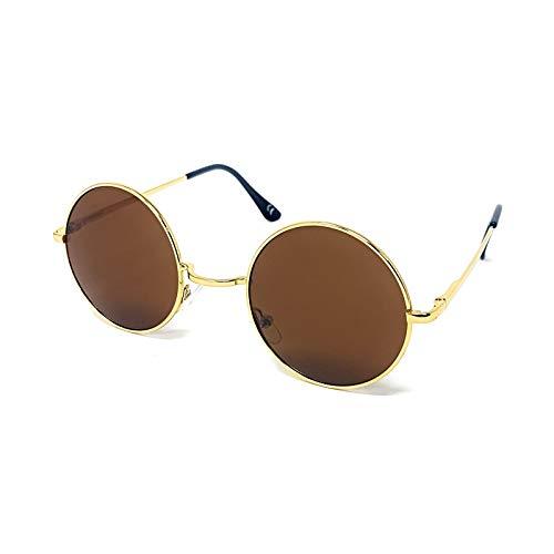 Gafas de sol de lente redonda.