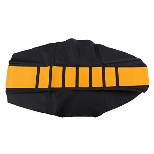 D DOLITY 1 Stück Motorrad Sitzbezug Motorradfahrer Sitzbezug Schutz weiche Anti-Rutsch-Motorrad-Sitzbezug - Gelb