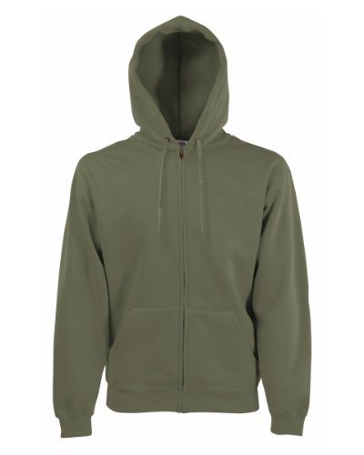 Fruit of the Loom - Sweatshirt à Capuche et Fermeture zippée - Homme (2XL) (Olive)