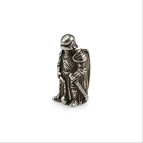 CHCO Bricolage Couteau Perles Pendentif Vintage Couleur en Laiton en Plein Air Outils Armure Knight Paracord Perles B Style Argenté
