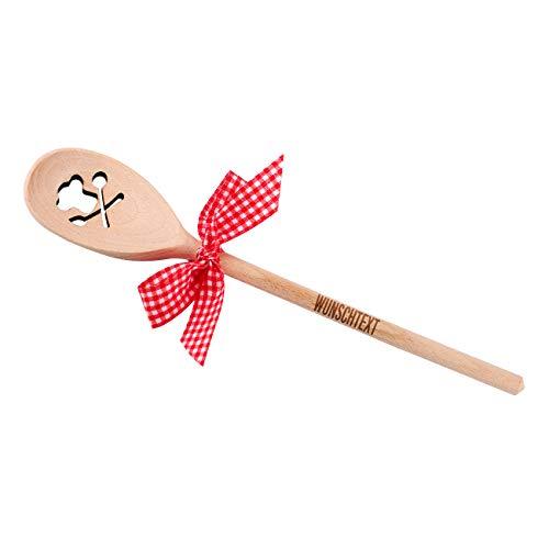 Herz & Heim® Kochlöffel mit Gravur tolles Geschenk für Hobby Köche - Motivauswahl Kochmütze