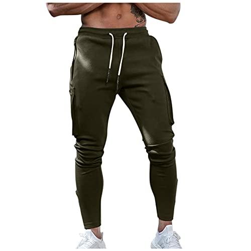 Binggong Pantalones de chándal para hombre de corte ajustado, pantalones de chándal, pantalones de chándal, pantalones de chándal, pantalones de chándal informales, pantalones de senderismo