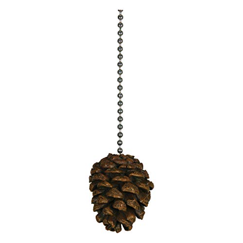 River's Edge Products Pine Cone Ceiling Fan Pull Ornament...