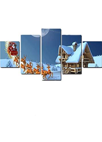 ZWB-Peintures décoratives:5 de la Peinture à l'huile pour Impression à Jet d'encre de Lian père Noël Elk de Voiture, Noyau de Peinture de Peinture décorative