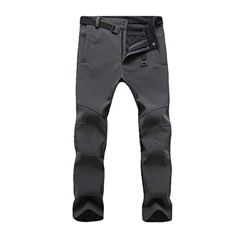 N\P Hombres Invierno Engrosado Caliente Fleece Pantalones Casual Hombres Chaqueta Deportes Pantalones