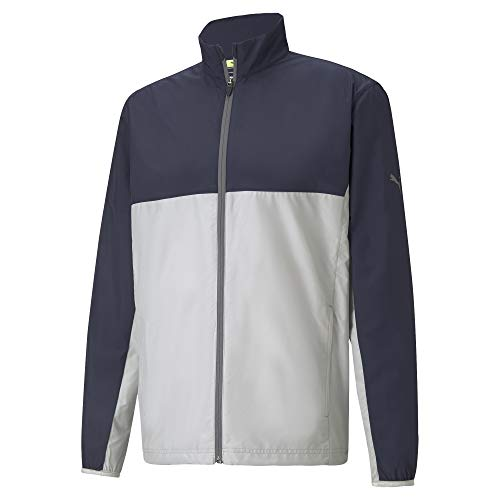 Puma Golf- First Mile Wind Jacket Navy Blazer/High Rise Medium
