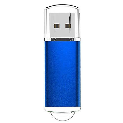 Chiavetta USB 64GB Pennetta USB 2.0 USB Flash Drive Memoria Stick 64 GB Thumb Drive per PC/Laptop/Smart TV etc (blu 01)