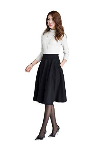 GG Fashion Women's Two Piece Knee Length Western Skirt and High Neck T-Shirt Dress