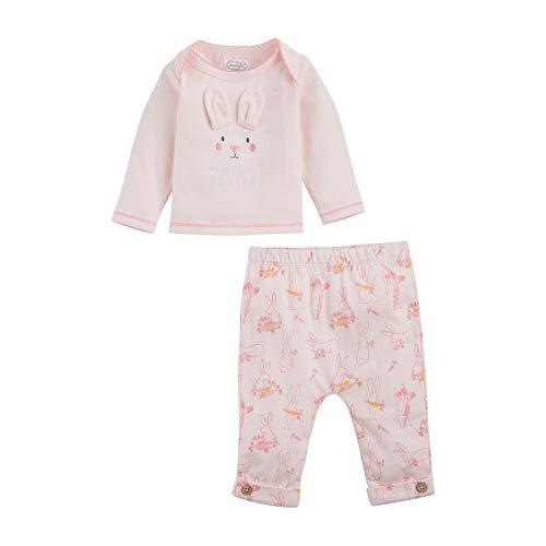 Mud Pie Baby Girls' First Easter 2 Piece Set, Pink, 3-6 Months