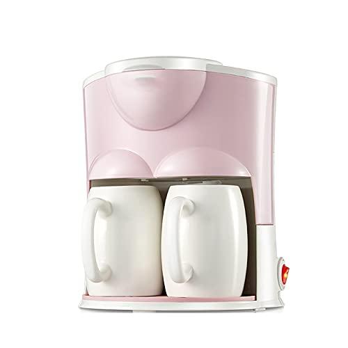 OMKMNOE Cafetera Profesional, Interruptor De Máquina De Café Totalmente Automático con Lámpara Indicadora Una Máquina Dos Usos Puede Hacer Que El Té De Café Sea Fácil De Limpiar,Rosado