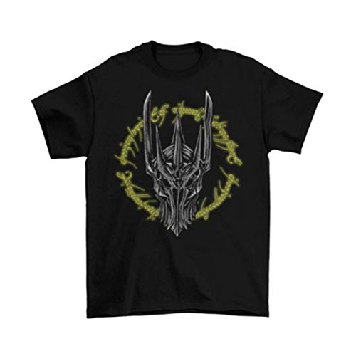 Sauron Lord of The Rings T-Shirt Adult Hobbit Fellowship Dark Black