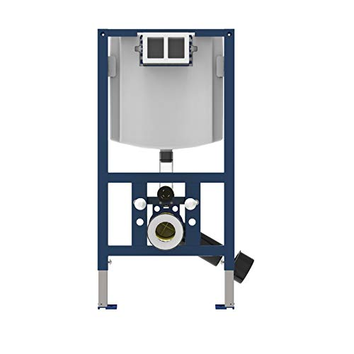 Sanit WC Element INEO FRONTOP (Einbaurahmen mit Spülkasten, ohne Betätigungsplatte, 2 Mengen-Spülung) 90.738.00.T000, grau
